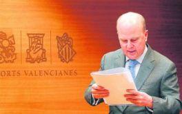 Buch avisa de que la Generalitat no dará «ni un duro más» al Valencia